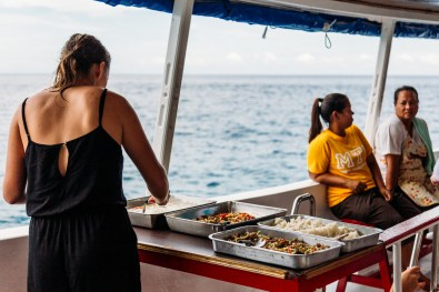 Meal time on Wicked diving liveaboard