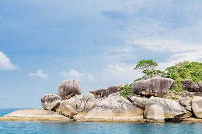 The view of the boulders that make up the Similan Islands