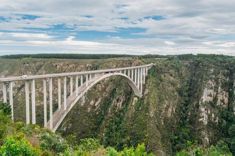 The highest commercial bungee jump in the world, Bloukrans Bridge in South Africa