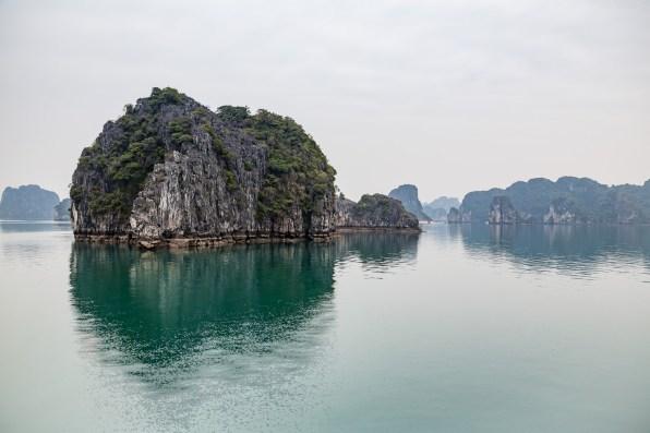 The karsts of Bai Tu Long in Halong Bay