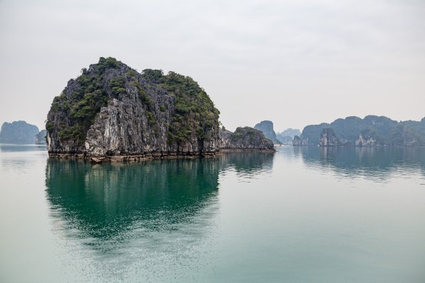 The karsts of Bai Tu Long in Halong Bay
