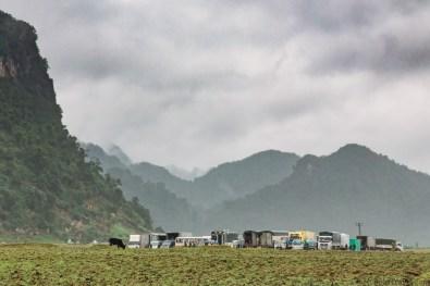 Departing Tan Hoa village for our La Ken Valley Tu Lan Jungle Challenge tour with Oxalis