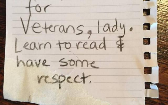 Local vet fires back on Facebook after being told: 'have some respect'