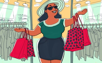 Post Holiday Shopping & Stopping the Negative Self Talk