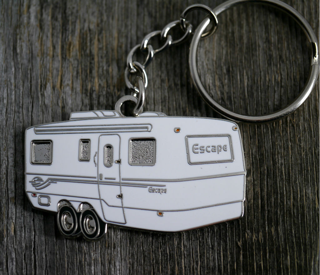 Escape 19-21 Tandem Axle Trailer Key Chain, Keychain