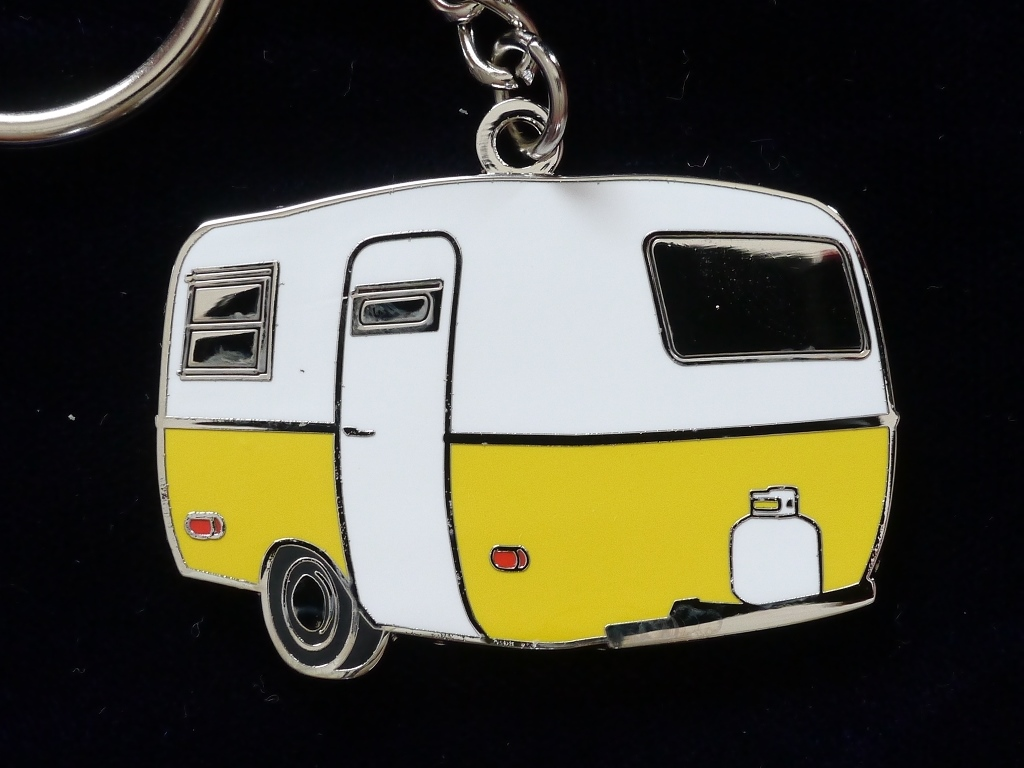 Yellow Boler Scamp Trailer Key Chain