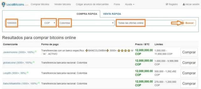 Como comprar bitcoins en localbitcoins: buscar ofertas