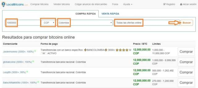 Como comprar bitcoins en colombia en localbitcoins