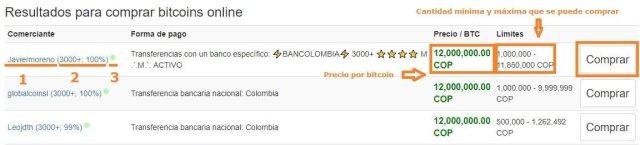Como comprar bitcoins en localbitcoins: seleccionar una oferta