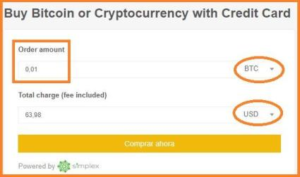 Paso 3: elige la moneda a comprar, la cantidad y la divisa en Binance.com