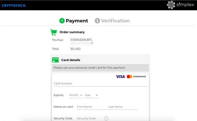 pasarela pago simplex compra bitcoins con tarjeta en cryptofacil