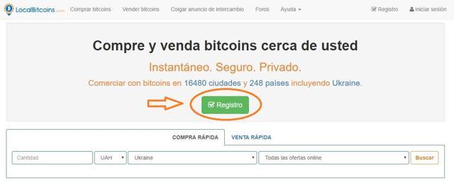 paso 1 abrir una cuenta localbitcoins