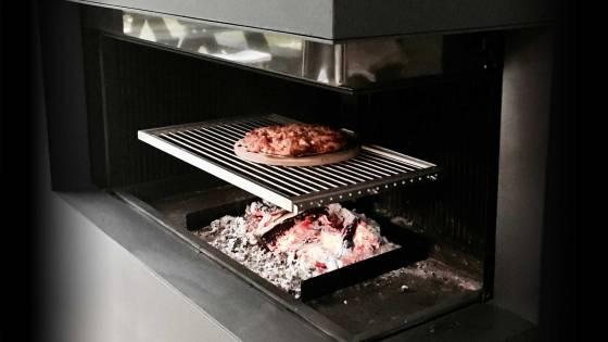 Barbecue Rooster openhaard