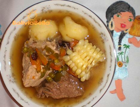 Picana - Recipe for Bolivian Christmas Picana - Bolivian