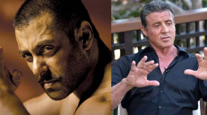 Salman Khan and Sylvester Stallone