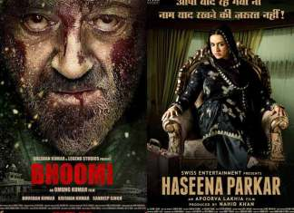 Box Office Predictions for Bhoomi and Haseena Parkar