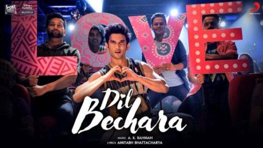 Bekijk de videoclip van de titelsong van Bollywood film Dil Bechara