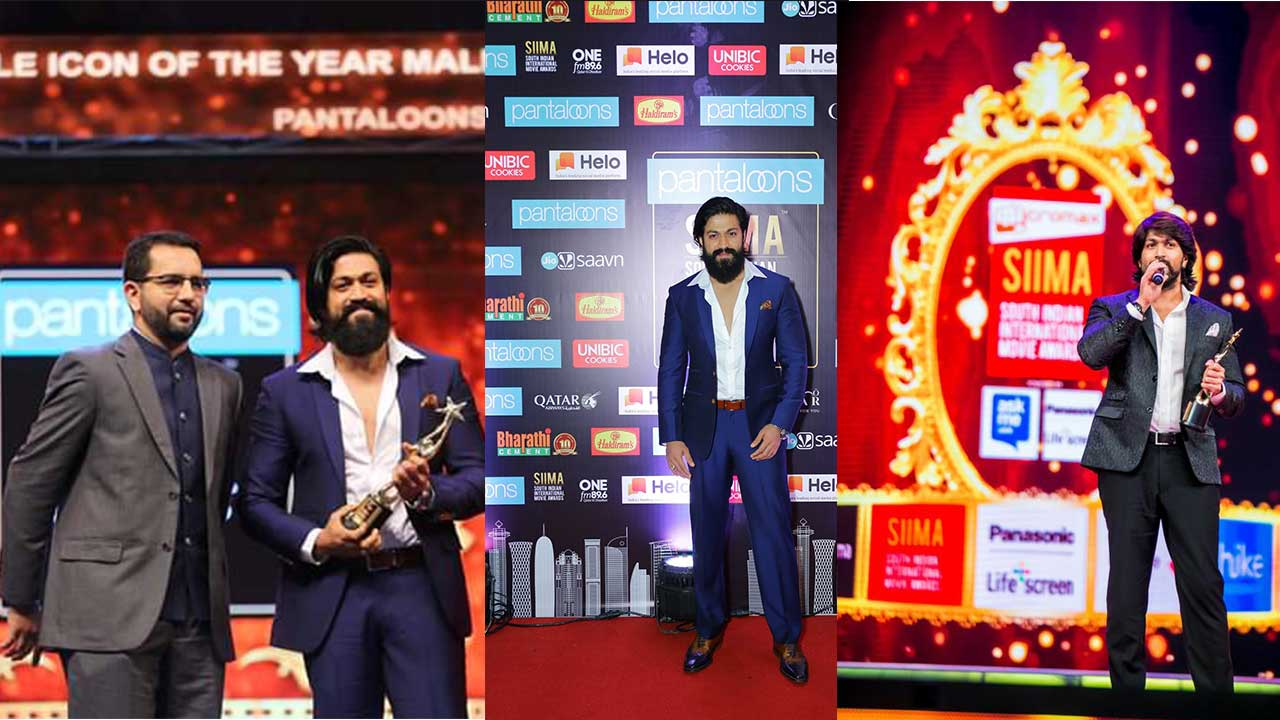 KGF Star Yash Won Two Big Awards In SIIMA 2019 And He Proved