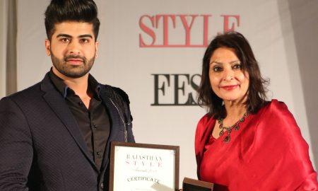 Rajasthan Style Awards, Darasing Khurana, Style Icon of the Year Award,