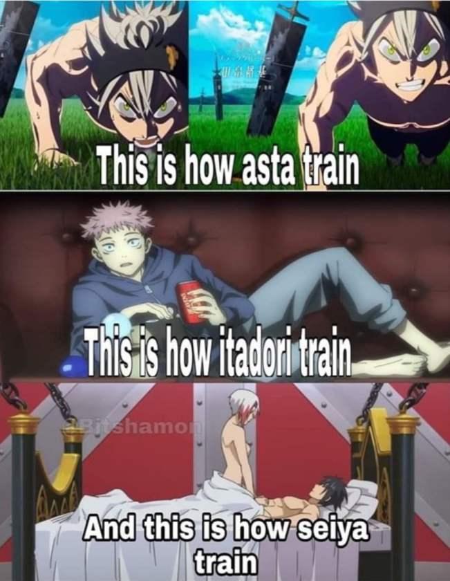 Asta Itadori and Seiya  Hilarious Anime Memes