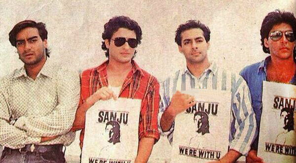 Image result for sanjay dutt friends young