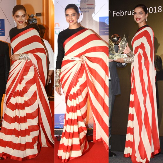 Deepika wearing saree