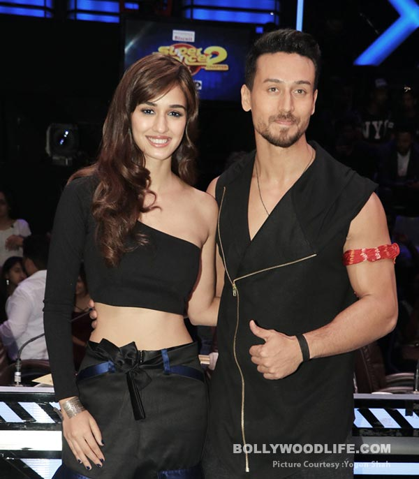 Disha Patani matches up with Tiger Shroff's styling as the two promote Baaghi 2 on the sets of Super Dancer 2