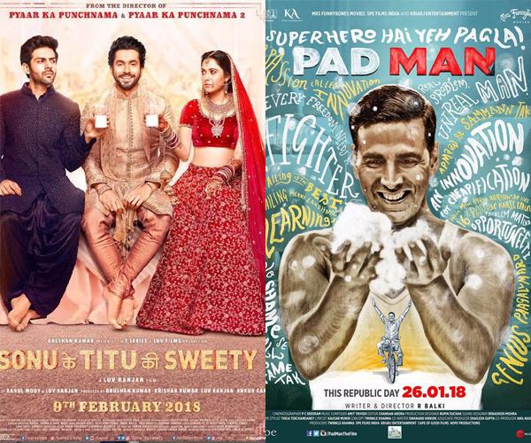 Sonu Ke Titu Ki Sweety DETHRONES Akshay Kumar's Pad Man to become second highest grosser of 2018