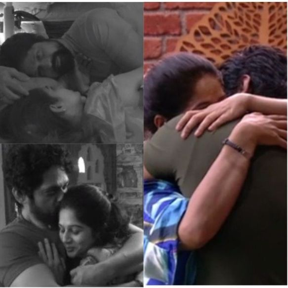 Bigg Boss Marathi: Resham Tipnis and Rajesh Shringarpore drop a shocker by kissing each other on the show