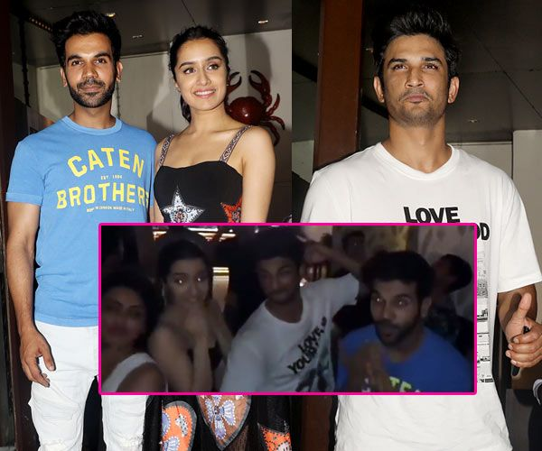 [Video] You can't miss Rajkummar Rao, Shraddha Kapoor and Sushant Singh Rajput's crazy moves at the Stree wrap up party