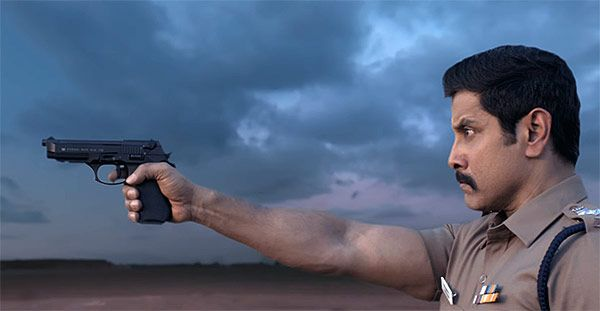 Saamy Square motion poster: Chiyaan Vikram is crackling as a cop in this promo
