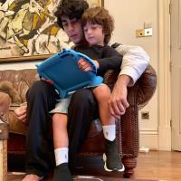 Aryan Khan and AbRam Khan
