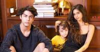 Aryan Khan, Suhana Khan and AbRam Khan