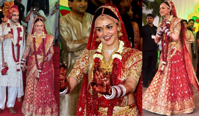 21 Famous Bollywood Divas And Their Wedding Day Look