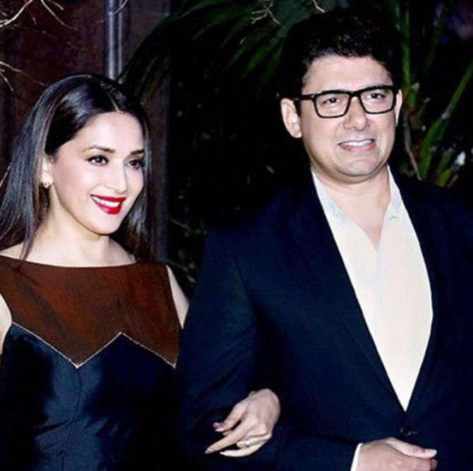 Madhuri Dixit with Shriram Nene