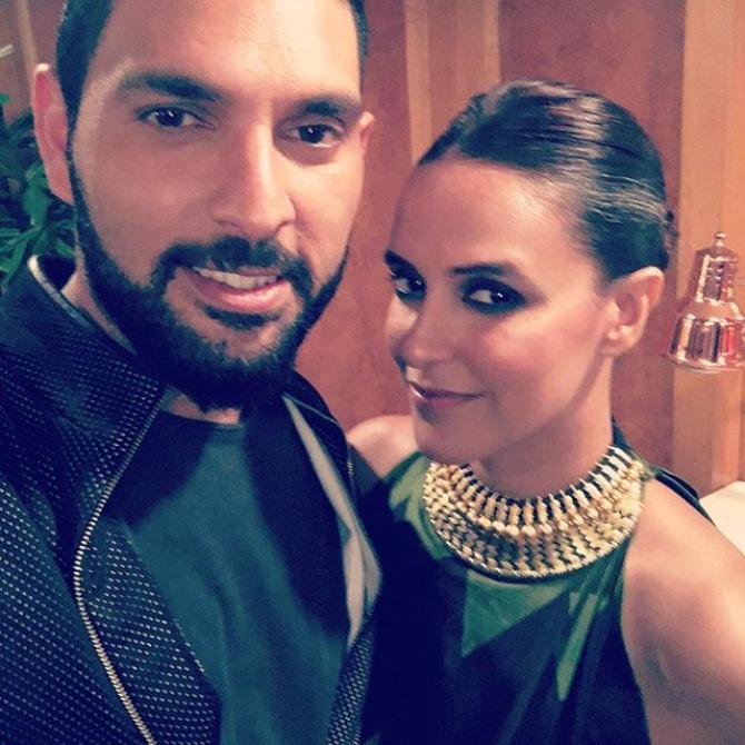 Neha Dhupia and Yuvraj Singh