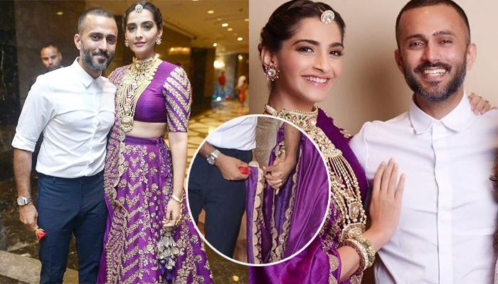 Anand Ahuja Would Not Let Go Of Wifey, Sonam Kapoor's Dupatta, She Blushes  Like A Bride