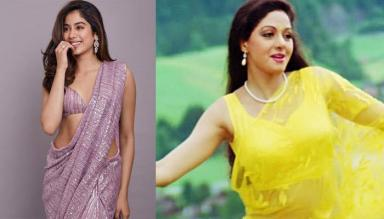 Janhvi Kapoor Recreating Mom, Sridevi's 'Chandni' Look Will Make You Sing 'Tere Mere Hothon Pe'