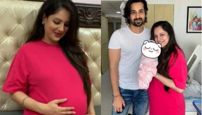 Puja Banerjee's Photos Flaunting Her Baby Bump In A Green Saree From The Night Before Her Delivery