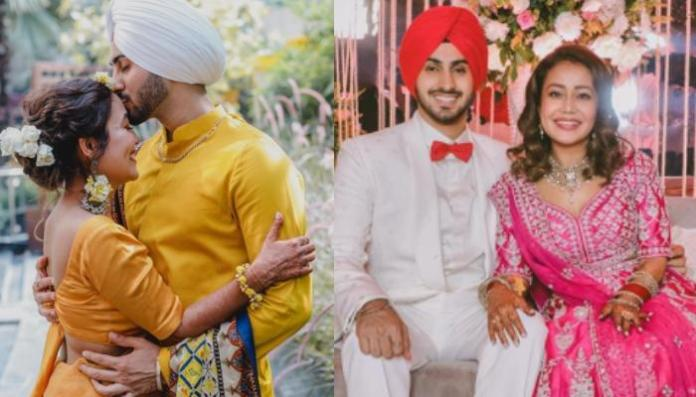 Neha Kakkar And Rohanreet Singh Sealed It With A Kiss On Their Engagement, Share Adorable Pictures
