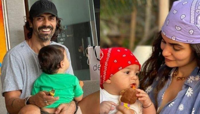 Daddy, Arjun Rampal Tries To Explain Something To Son, Arik, Mommy, Gabriella Shares A Glimpse