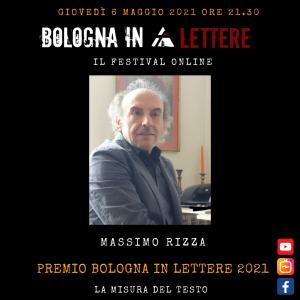 PREMIO BOLOGNA IN LETTERE 2021 Massimo Rizza