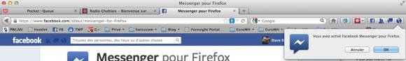 Facebook Messenger pour Firefox