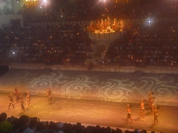 Show no final da tarde em Xcaret no México