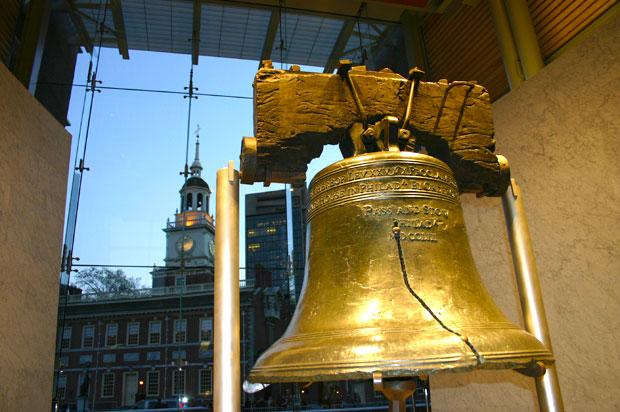 Foto do Liberty Bell na Philadelphia