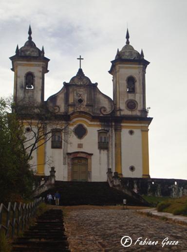 Igreja de São Francisco de Paula, que dá nome ao hostel em que costumo ficar em Ouro Preto