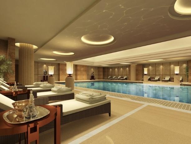 Casas de banho, o spa do inverno em Shanghai