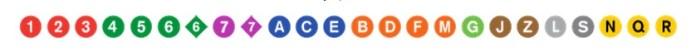 símbolos das linhas metrô