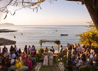celebração de casamento na praia da tartaruga