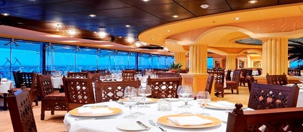 restaurante do navio de cruzeiro